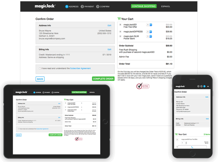 magicJack website / HTML5, CSS & Graphic Production