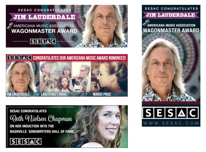 SESAC Online Advertising Design