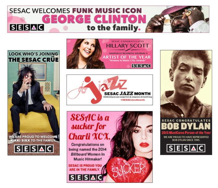 SESAC Online Advertising Desgin