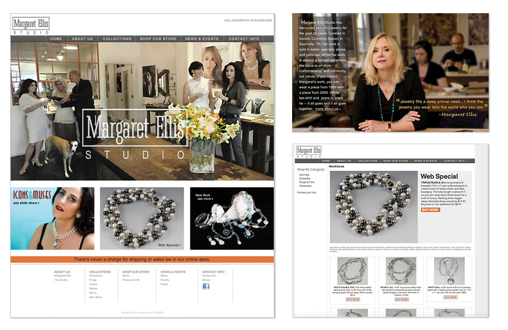Margaret Ellis Jewelry Website